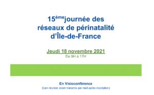 15ième journée des réseaux de périnatalité d'Ile-de-France